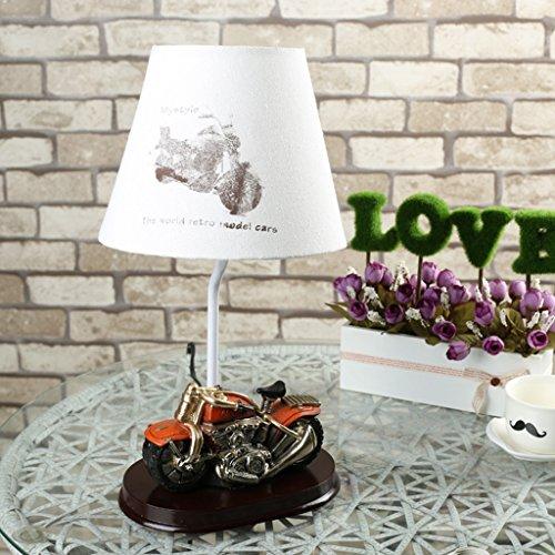 HRMAOI®,Geschenke, Nachttischlampen, moderne Art und Weise, orange Motorradmodelle, kreative Schlafzimmer dekorative Lampe, A-37CM