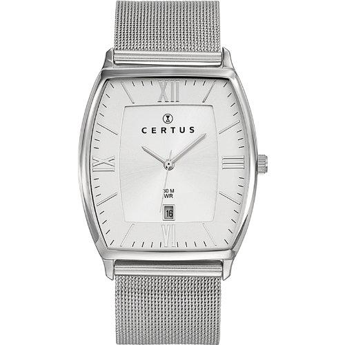 Certus 616350 - Reloj de pulsera hombre, acero inoxidable, color plateado