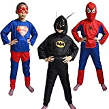 #2: Theme My Party Spiderman,Superman and Batman Triset For Kids (6-8 Years)