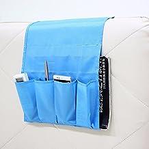 huplue 4bolsillos de almacenamiento organizador colgante bolsa sofá sofá sillón mando a distancia soporte de bolsillo plegable bolsa de almacenamiento Hanger