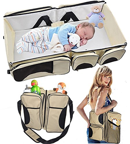 hkhuixin-baby-3-in-1-portable-bassinet-diaper-bag-and-change-station-with-fitted-sheet-and-carabiner