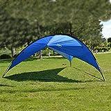 Blueidea® Outdoor Sunshade Basecamp Shelter Tripod Beach Shelter Canopy Family Triangular Sun Shade Camping Fishing Shelter Garden Party Pergola UV Protection