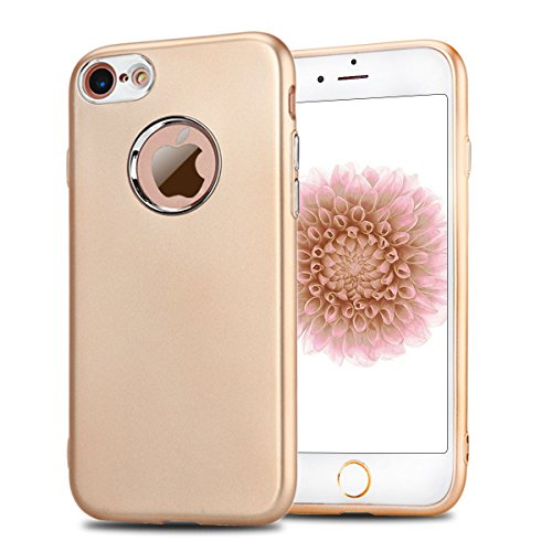 Coque iPhone 7 , iPhone 7 Housse , CaseLover Etui Coque TPU Slim Bumper pour Apple iPhone 7 (4.7 pouces) Mode Flexible Souple Gel Silicone Case Couverture Housse de Protection Anti Rayures Mince Case  Or
