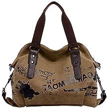 077d00c6c7c Sencillo Vida Bolsos Bandolera de Mujer Bolsa de Lona Retro Bolsos de mano bolsos  desigual bolsos