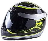 Viper Helmets - Casco integral de moto RS1010 61-62 cm Carbonio/Giallo