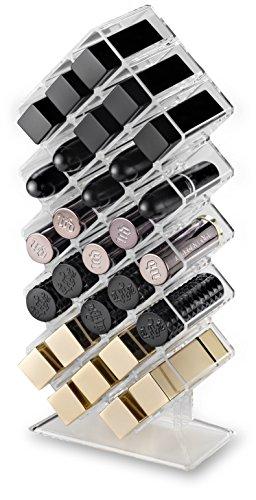 byAlegory Acrylique nid d'abeilles Maquillage Lipstick Organisateur 28 Espaces | Conçu pour se tenir debout et poser à plat Ou Rouges à lèvres