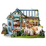 shewt Innovative Girls Toys DIY Kabine Rosengarten Teehaus Handgemachtes Architekturmodell Holzvilla