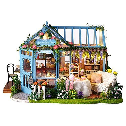 DIY Cabin Rosengarten Teehaus Handmade Architectural Model Mädchen Spielzeug Holz Villa Innovative