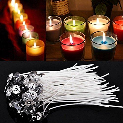 100 Stück 30mm Kerze Dochte, Kerzenherstellung Zubehör für DIY