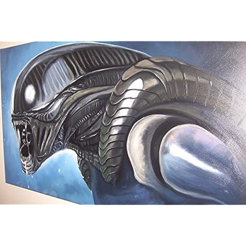 Alien 28x 16dipinto a olio su tela ma Box Framing disponibili su richiesta, si prega di contattarci via email per dettagli. Molti Altri alieno, disponibile anche come qualsiasi dimensione Desideri. Si prega di contattarci via email per dettagli. Prometeo - Framing Olio Su Tela