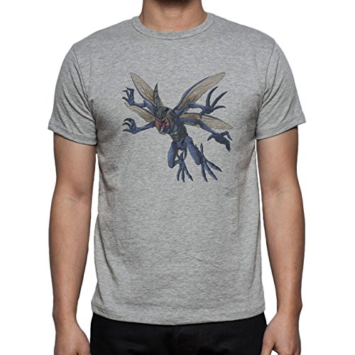 Digimon Tentomon Bug Kabuterimon Fly Herren T-Shirt Grau