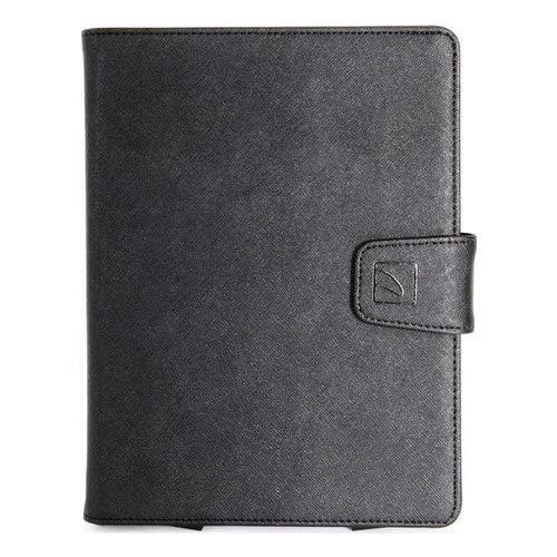cover tablet 8 pollici Tucano- Cover Tablet Saffiano Nera. Protezione Schermo. Custodia Universale Trasformabile. Utilizzo in Ufficio