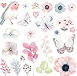 Slylive Flower Birds Butterfly stiratura trasferimenti patch, pressa di calore adesivi DIY Appliques