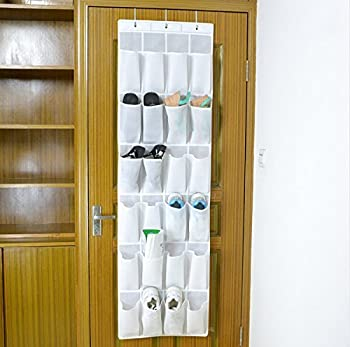 Bekith 24-pocket Over-the-door Organizer, Shoe Storage Bag, Shoe Rack, Shoe Storage Rack, White 0