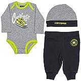 Converse Baby Sneaker Creeper Set in Grey Heather Push Stud Fastening