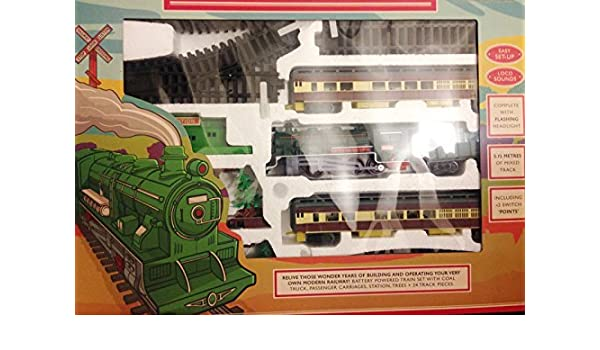 Great Gift For Kids Brand New Military Equipment Express Army Train Set