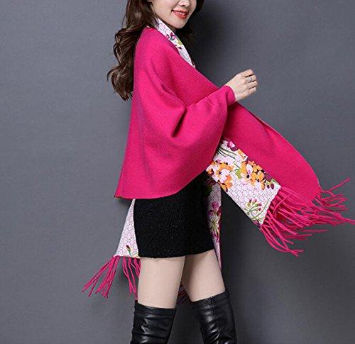 Sciarpa Autunno E Inverno Nappe Spessore Doppio Strato Stampa Maglione Fashion High-end Giacca Da Donna 3