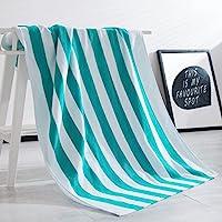 100% algodón Cabana diseño de rayas toalla de playa Caribe azul y blanco (30