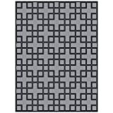 Beautiful luxury carpet made from 100% New Zealand wool with meander pattern, Grey/Black, silky smooth, 300 x 400 cm - High quality