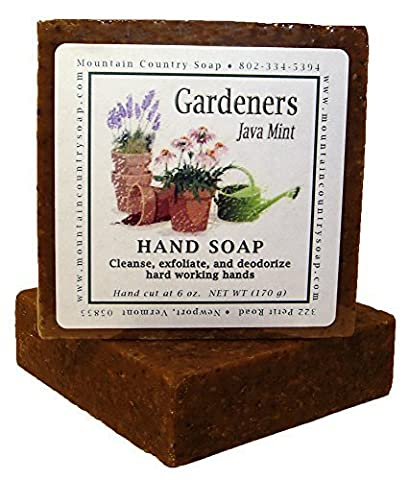 Gardeners Java Mint Natural Olive and Cocoa Butter Hand Soap - 6 oz by Mountain Country Soap