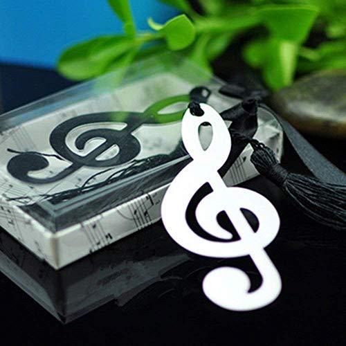 10 stücke Hohl Musiknoten Lesezeichen Metall Mit Mini Grußkarten Quasten Anhänger Geschenke Hochzeit Gefälligkeiten