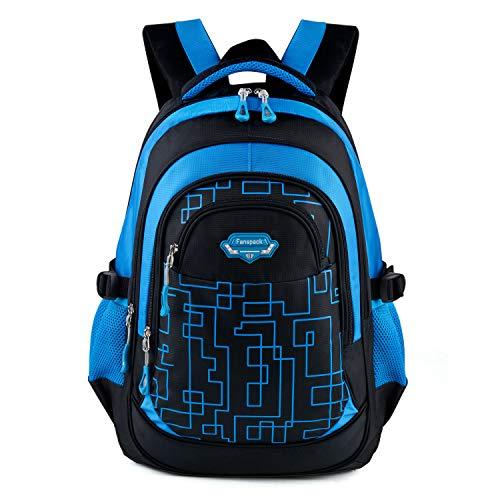 Zaino scuola elementare,fanspack zaini scuola bambino elementare borsa zainetto zaini per bambini ragazzo (azzurro)