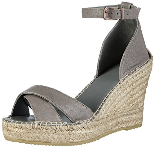 Fred de la BretoniereFred elegant cross strap elegant espadrille 10cm heel Calella - Espadrillas Donna , Grigio (Grau (Perla)), 38