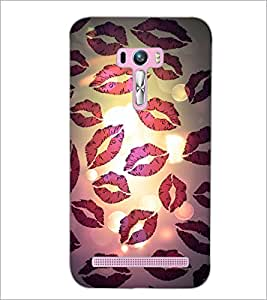 PrintDhaba Kiss Pattern D-2793 Back Case Cover for ASUS ZENFONE SELFIE ZD551KL (Multi-Coloured)