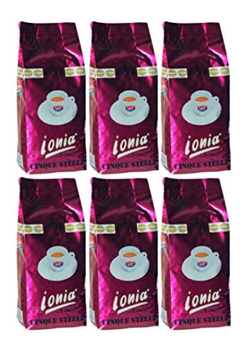 Ionia Espresso Cinque Stelle 6x 1kg Vorratspaket