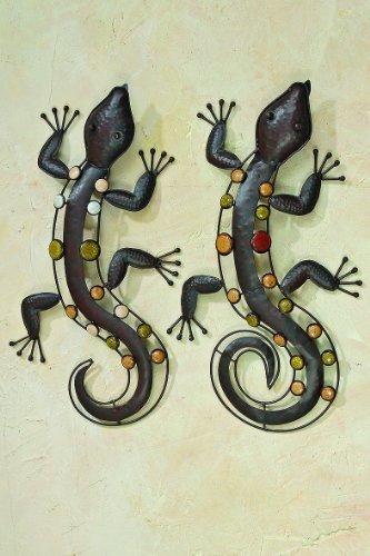 Wandfigur Dekofigur Salamander Nizza Metall 53 cm Trend