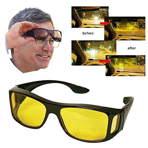 Polarisierend/Nachtsicht/Anti eblouissement/Sonnenbrille Bremsleitung, Nacht Auto und Motorrad-Sonnenbrille/Nachtsicht/Tür sich durch Oberseite Ihrer Brille Tageslinsen