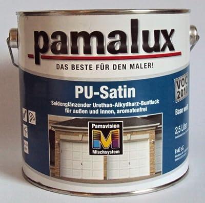 12,63EUR/Liter Pamalux PU Satin Buntlack, Weiss Seidenglänzend 2,375 Liter von PMZ eG - TapetenShop