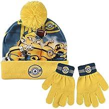 Conjunto gorro guantes Minions Rugby