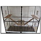 Montana Cages Nagerkäfig Sevilla 150 antik-platinum mit Holzkit