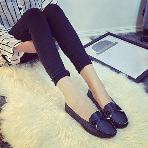 Amlaiworld Donne Casual scarpe piatte primavera estate scarpe con suola morbida nero