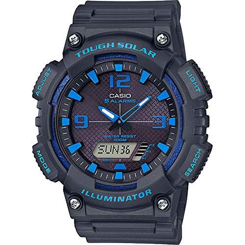 CASIO Herren Analog-Digital Quarz Uhr mit Harz Armband AQ-S810W-8A2VEF