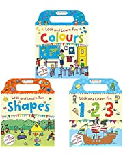 Look And Learn Fun Activity Books Series: Look And Learn Fun Colours + Look And Learn Fun Shapes + Look And Learn Fun 123 (Set of 3 Books)