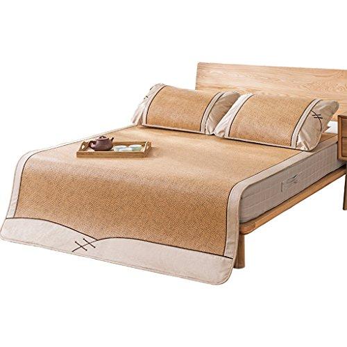 Liuyu · Tapis de style chinois trois ensembles de siège en rotin double 1.5m1.8 mètres climatisation siège pliable tapis tapis lavable épaisse sièges en rotin sans danger sans bavures, doux et confort