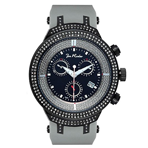 Joe Rodeo Diamond orologio da uomo - Master nero 2.2 Ctw