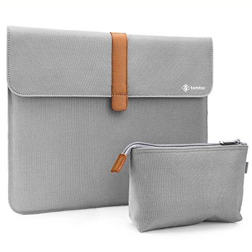 """Tomtoc Laptop Tasche Schutzhülle für 12,3\"""" Microsoft Surface Pro 5 4 3/Apple 13\"""" neu MacBook Pro/Dell XPS 13, Notebook Tragetasche mit Zubehörtasche Set, Silber Grau"""