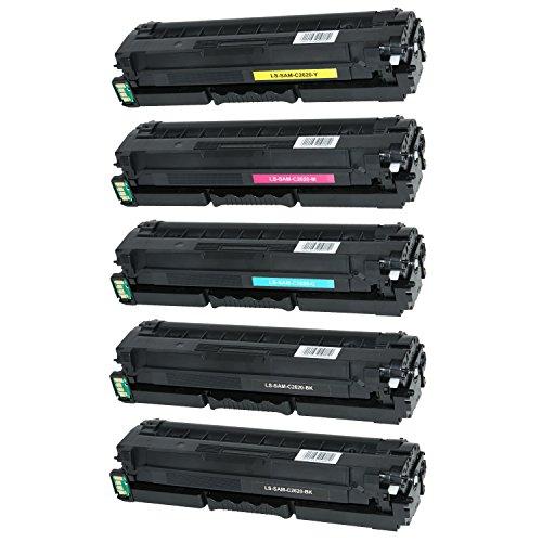 Preisvergleich Produktbild 5 Toner für Samsung ProXpress C2620 DW C2670 FW C2600 Series - CLT-K505L C505L M505L Y505L- Schwarz je 6.000 Seiten, Color je 3.500 Seiten