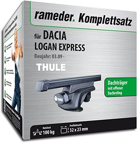 Rameder Komplettsatz, Dachträger SquareBar für Dacia LOGAN EXPRESS (115966-08041-44)