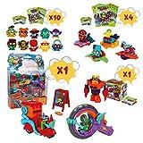 SuperZings Serie 3 - Pizza Riders Mission 3 y Pack Sorpresa con 15 Sets | Contiene Blíster Pizza Riders, 10 Sobres One Pack, 4 Supersliders y 1 Superbot | Juguetes y Regalos Originales para Niños