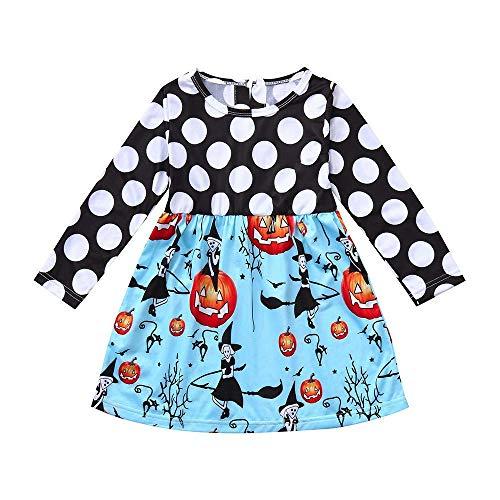 Qiusa Bebé recién nacido Niño pequeño Bebé Linda Chica Lunares Vestido estampado...