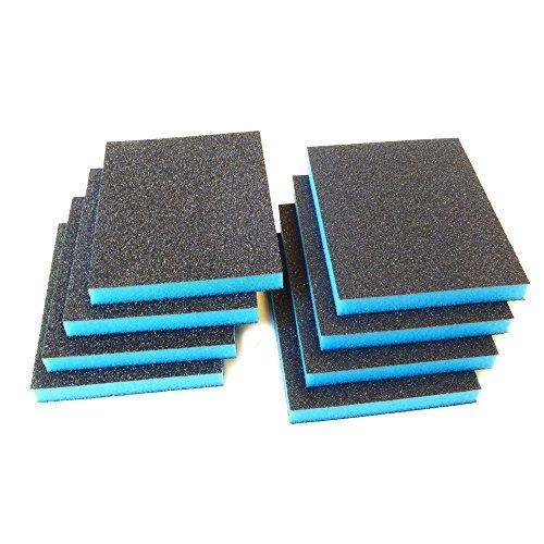 Rotix de 617308pieza–Esponja de lija schleifpad | grueso | 125x 95x 12mm, 4x grano 60+ 4x grano 100, 8unidades)