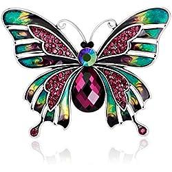 Skyllc® Estilo europeo y americano de la manera Broche de mariposa de aceite de gota de esmalte colorido Pin retro del palacio ramillete