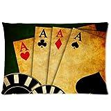 huirong Kissenbezüge Design 50,8x 76,2cm Poker Karten (3) Kissen Displayschutzfolie, Best Kissen, eine Seite Druck
