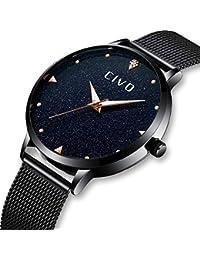 Relojes para Mujer Reloj de Analógico Acero Inoxidable Impermeable Lujo  Negocio Relojes de Pulsera Señoras Chicas Adolescentes Fresco… f6a12c25b87f