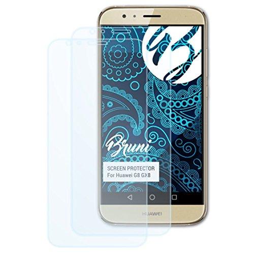 Bruni Schutzfolie für Huawei G8 GX8 / G7 Plus Folie, glasklare Bildschirmschutzfolie (2X)