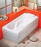 Badewanne KAMELIE 170x80x44cm mit Wannenschürze,Ablaufgarnitur und Wannenfüßen
